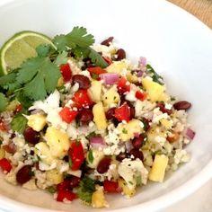 Raw Cauliflower Summer Salad- gluten free, grain free, paleo, raw
