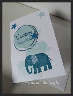 carte bapteme elephant