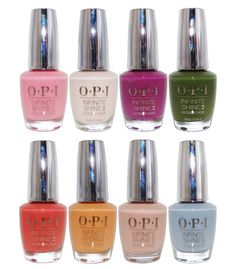 OPI Infinite Shine Spring 2016 Collection Nail Lacquer Set of 8 Colors