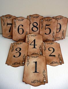 These table numbers are perfect, I just need to figure out how to post them....