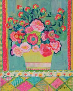 Bright Pink Peonies Giclee Print by Kimberly by GoldfishMarmalade