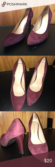 Maroon Suede Never Worn Heels Bought these and never ended up wearing them. Perfect condition. 3 inch heel. NWOT Franco Sarto Shoes Heels