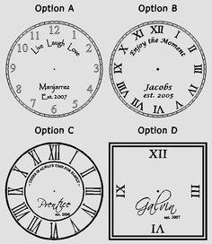 Vinyl clock faces