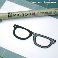 Tutorial: Shrink Plastic Nerd Glasses Pendant | The Zen of Making