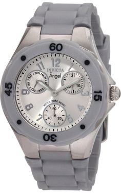 #Invicta #Watch , Invicta Women's 1273 Angel Grey Silicone Silver Dial Watch