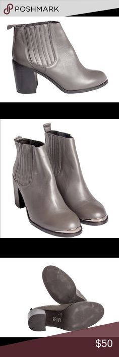 Renvy Ruviza Leather Bootie Women's leather bootie - grey Renvy Shoes Ankle Boots & Booties