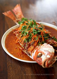 Crisp Fried Whole Snapper with Chilli and Coriander Sauce