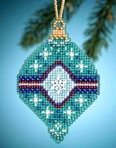 Mill Hill 2014 Jade Charmed Cross Stitch Christmas Tree Ornament Kit in Crafts, Cross Stitch, Kits | eBay