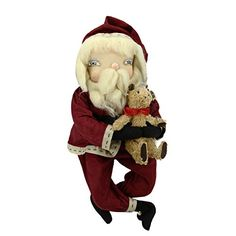 23 Gathered Traditions Freddy Santa Decorative Christmas Figure with Dangling Legs * Want to know more, click on the image.