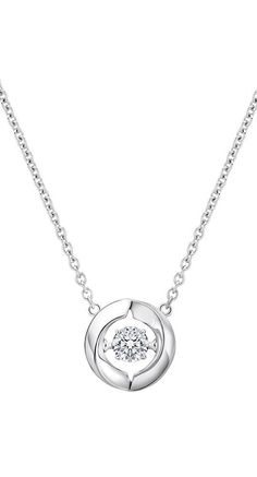 Gorgeously feminine, this dancing diamond necklace features a unique setting, allowing the diamond to move and sparkle continuously. Our dancing diamond is suspended at the center. http://www.amazon.com/dp/B018XM21QC