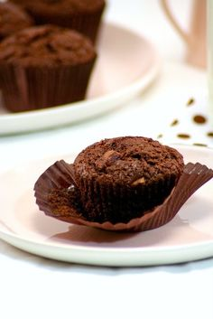 MUFFINS DE CHOCOLATE (Milk chocolate chunk muffins)