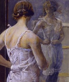 Christian Krogh. Toilette. Ca 1900