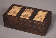 black palm and koa dovetailed jewelry box 150