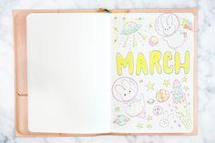 MARCH BULLET JOURNAL UPDATE 2018