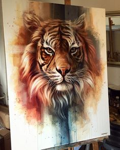"NEW - 'Fierce' Original Oil on 30""x40"" canvas. #wildlife #tiger #tigerart #proartist #instaartist #painting #comicart #studio #art #illustration #drawing #draw #picture #artist #sketch #sketchbook #paper #pen #pencil #artsy #beautiful #instagood #gallery #creative #photooftheday #graphic #graphics #artoftheday"