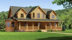"""The Lawrenceburg"" is one of the many log cabin home plans from Southland Log Homes. You can customize the Lawrenceburg to meet your exact needs with our free design tools."
