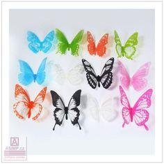 DŮM, BYT, ZAHRADA | Dekorace na zeď - Motýli (12 ks) / AS1-00099 | ASIMP.cz