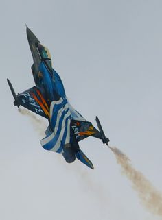 AIRCRAFT - ALL THE BEST. Hellenic Air Force, Aircraft Images, F 16 Falcon, Aviation Art, Paint Schemes, Military Aircraft, Fighter Jets, History, Airplanes