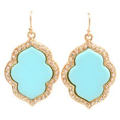 Teal Amour Earrings ($13) ❤ liked on Polyvore featuring jewelry, earrings, teal jewelry and teal earrings