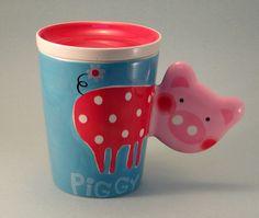 Piggy-Shaped Piggy Mug with Lid