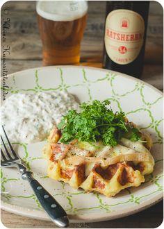 Kartoffel-Kressewaffeln mit Radieschen-Schichtkäse | Kleiner Kuriositätenladen