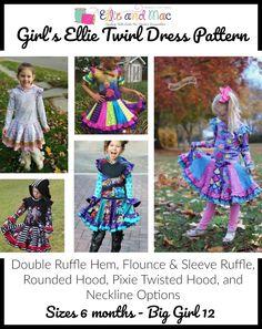 Ellie Twirl Dress PDF Sewing Pattern by Ellie and Mac
