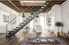 Contemporary townhouse in New York features loft-like aesthetic