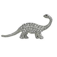 Tyrannosaurus Rex Fossil Dinosaur Skeleton Necklace Gold Tone NC43 Statement Fashion Jewelry | DinosaurGifts.com