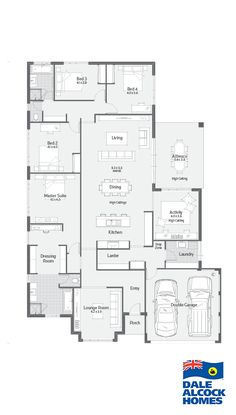 Explore our range of award winning home designs here. Choose your dream home design now with Dale Alcock. Available in Perth or the South-West. Best House Plans, Dream House Plans, House Floor Plans, Workout Room Home, Home Design Floor Plans, Entry Hallway, House Blueprints, Sims House, Good House