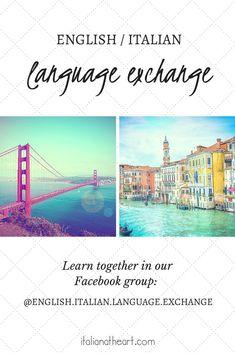 Community - Italian at Heart Italian Quotes, Italian Language, Learning Italian, English, Community, Group, Facebook, Reading, Learn Italian Language