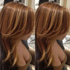 golden copper color with a couple blonde highlights