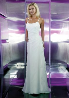 Overlay Gauze Satin Spaghetti Straps Bridal Gowns