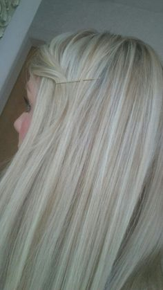cool blonde bright highlights