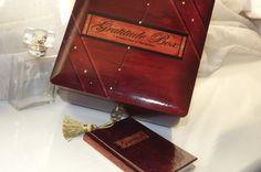 Lock BoX. GRATITUDE box. Wood LOCK Box. by DAWNaffirmationBoxes
