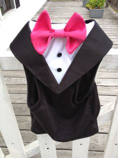 Our custom dog tuxedos are perfect for any formal occasions including weddings, parties and birthdays! All sizes available and customizable for your wedding colors! All I need are your pets measurements: neck chest spine tie color Wedding Tuxedos, Tuxedo Wedding, Dog Wedding, Wedding Stuff, Dream Wedding, Wedding Ideas, Boy Dog Clothes, Violet Tattoo, Dog Outfits