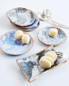 """""""My new DIY tutorial at @nisha_mag - Air dry clay plates :) #marble #airdryclay"""""""
