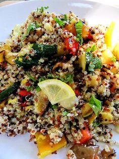Grilled Veggie Quinoa Salad.