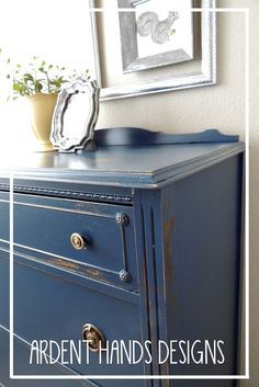 Ardent Hands Designs: Before and After >> Navy Dresser