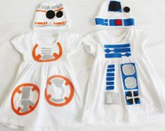 These adorable R2D2 and BB8 costumes can be worn anywhere youd like to take your babies! It is available for boys and girls. Whether youd