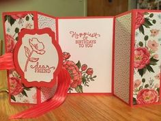 Double Z Fold Fun Fold Card; Birthday Blooms Stamp Set