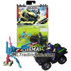 "Hasbro GI JOE Sigma 6 Mission Manual Series 2-1/2"" Tall Figure - DESERT BLAST with Cobra B.A.T. v.5 and Duke with Night Ranger Quad Vehicle"
