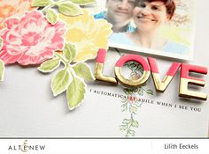 Lilith will show us how to create a cluster of flowers on a layout using the Beautiful Day stamp and die sets. She will be using 11 inks in total to create a colourful flowery layout. Check our blog for the video tutorial. www.altenew.com