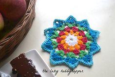 Starry flower coaster ~ free pattern ᛡ