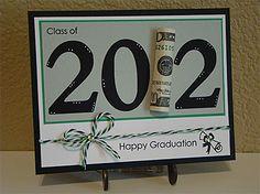Happy Graduation card w/ dollar bill