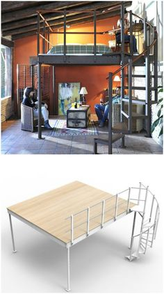 The T15 Mezzanine Loft Kit has everything that you need to DIY your own comfy loftg space.
