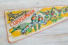 vintage felt australian large souvenir pennant flags by epochco
