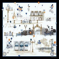 L'Envol silk scarf - 8554SOI | Longchamp United-States - Official Website