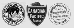 Vintage Railroad logos  From Boingboing...