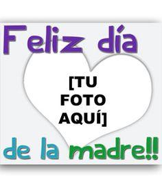 Tarjeta para felicitar a mama con el un corazón transparente y el texto de feliz día de la madre. www.fotoefectos.com