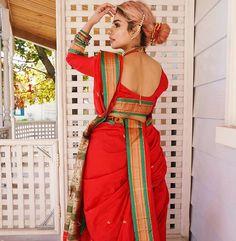 Happy Ganesh Chaturthi to those celebrating. Are there any Marathi ppl here? Indian Makeup, Indian Beauty Saree, Kashta Saree, Marathi Saree, Nauvari Saree, Punjabi Girls, Happy Ganesh Chaturthi, Sexy Bra, Mumbai